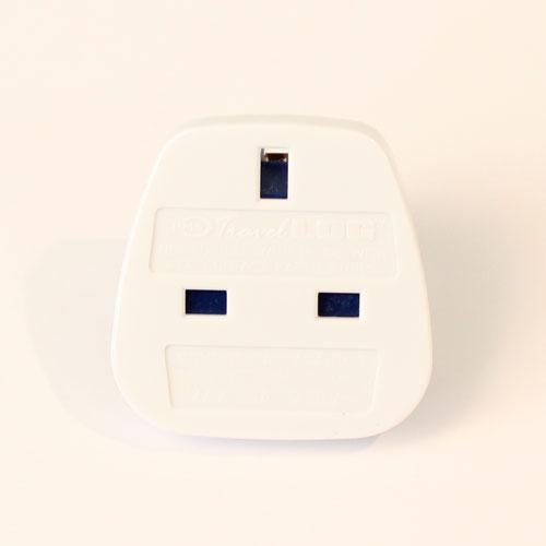 White UK To Europe Travel Plug Adapter Product Image