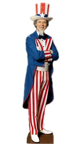 Uncle Sam Lifesize Cardboard Cutout - 180cm Product Gallery Image