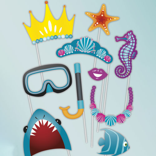 Under The Sea Party Photo Booth Props - Pack of 10