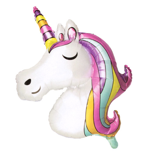Unicorn Air Fill Giant Foil Balloon 84cm / 33 in Product Image