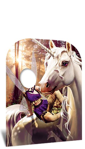 Unicorn and Fairy Fantasy Land Child Size Stand In Cardboard Cutout 131cm