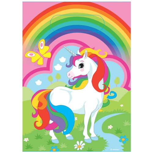 Unicorn Design Loot Bags Pack Of 8 Product Image