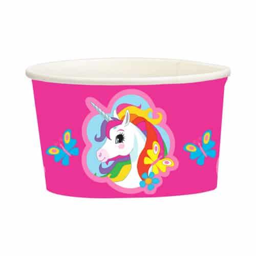 Unicorn Design Snack Tubs 270ml Pack Of 8
