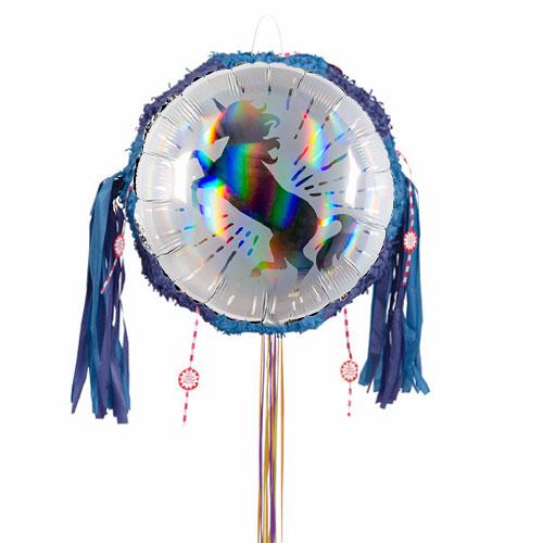Unicorn Holographic Pull String Pinata