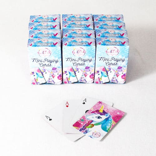 Unicorn Mini Playing Cards - Pack of 12