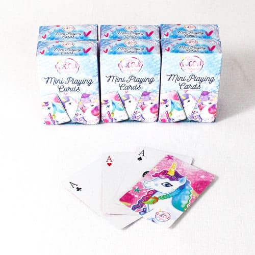 Unicorn Mini Playing Cards - Pack of 6 Product Image