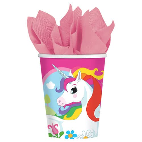 Unicorn Paper Cups 266ml - Pack of 8