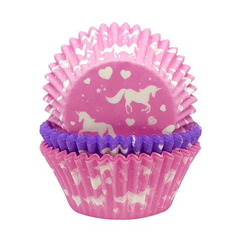 Unicorn Paper Baking Cupcake Cases - Pack of 75