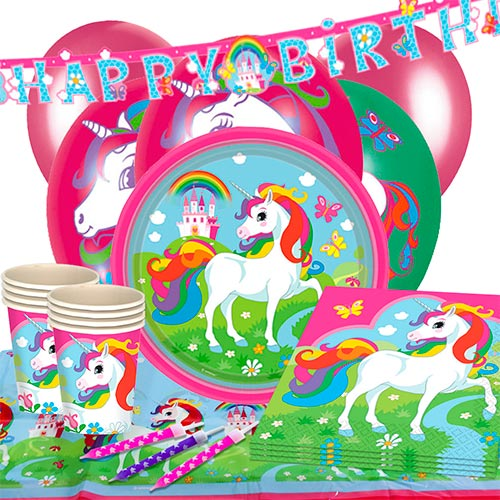 Unicorn 16 Person Deluxe Party Pack