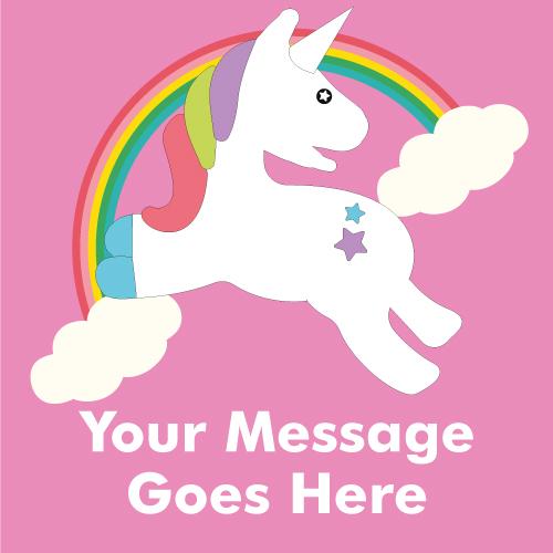 Rainbow Unicorn 2ft x 2ft Personalised Sign