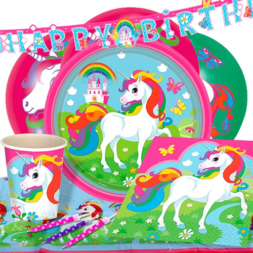 Unicorn 8 Person Deluxe Party Pack