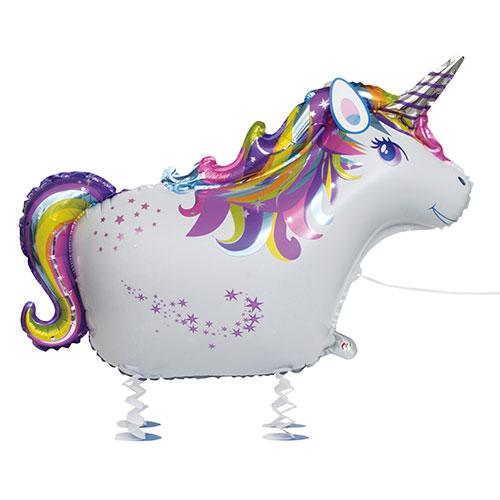 Unicorn Walking Pet Foil Helium Balloon 86cm / 34 in Product Image