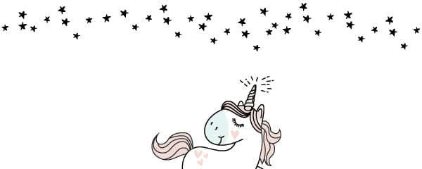 Unicorn With Stars Design Large Personalised Banner - 10ft x 4ft