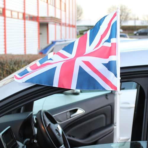 Union Jack Car Flag On Stick 45cm Product Image