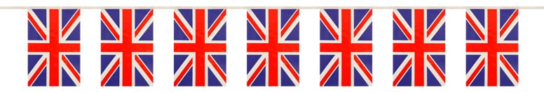 Union Jack Flag Bunting - 12 Ft / 366cm - 11 Flags