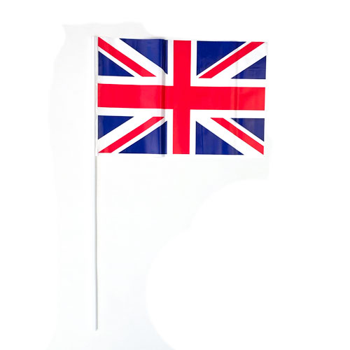 Union Jack Flags On Sticks 30cm - Pack of 5 Product Image