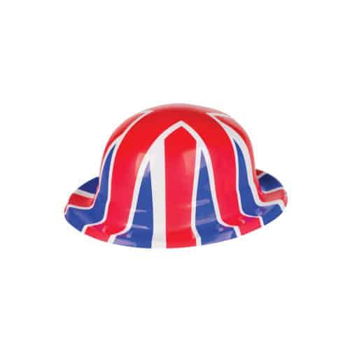 Union Jack PVC Bowler Hat Product Image