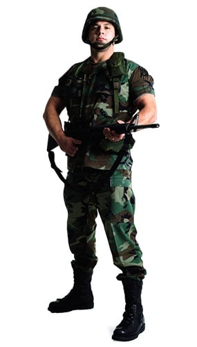 US Soldier Lifesize Cardboard Cutout - 183cm Product Image