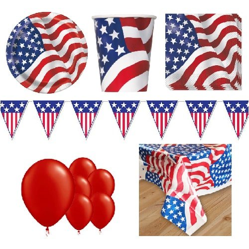USA 8 Person Deluxe Party Pack Product Image