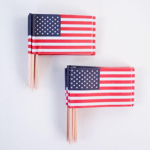 USA Flag Sandwich Picks - Pack of 30