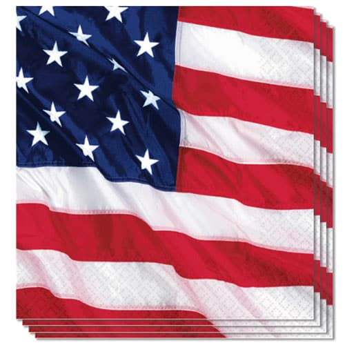 USA Flying Colours Luncheon Napkins 2Ply 33cm Pack of 16