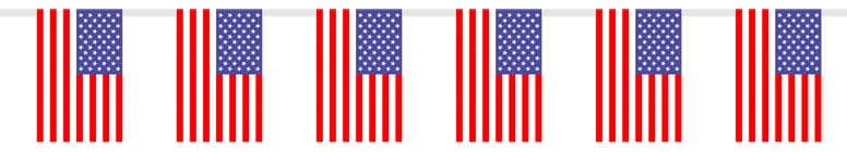 USA Plastic Flag Bunting - 12 Ft / 366cm
