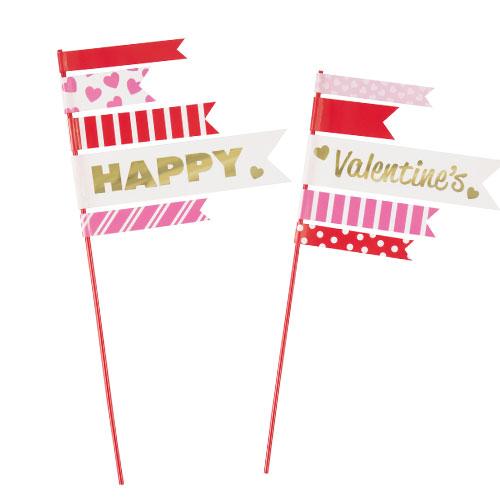 Valentine's Day Cake Topper Picks - Pack of 2