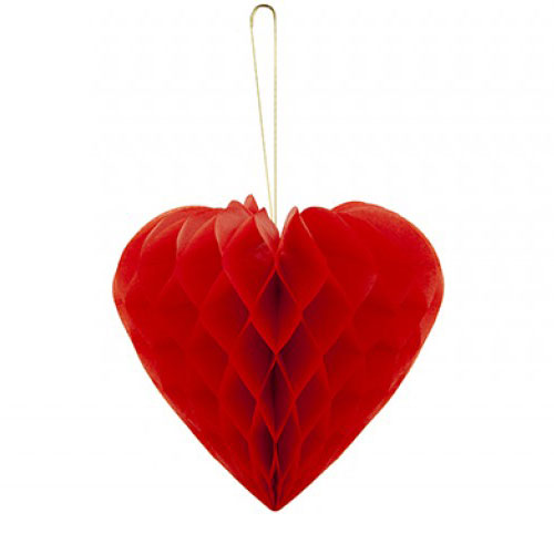 Valentine's Day Honeycomb Heart Hanging Decoration 23cm