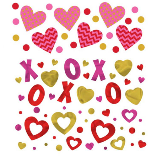 Valentine's Day Value Table Confetti 34 Grams - Pack of 3