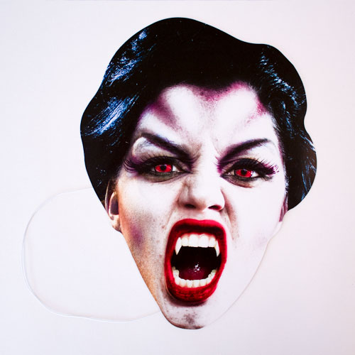 Vampire Cardboard Face Mask