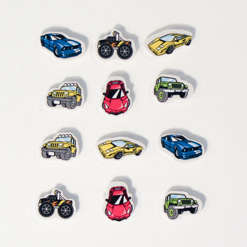 Vehicle Novelty Erasers - Pack of 12