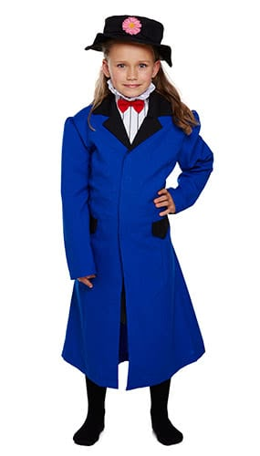 Victorian Nanny Children Fancy Dress Costume 10-12 Years - Large Product Image