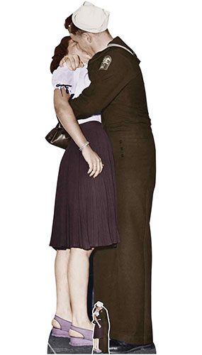Victory Day Couple Colour Lifesize Cardboard Cutout 184cm Product Image