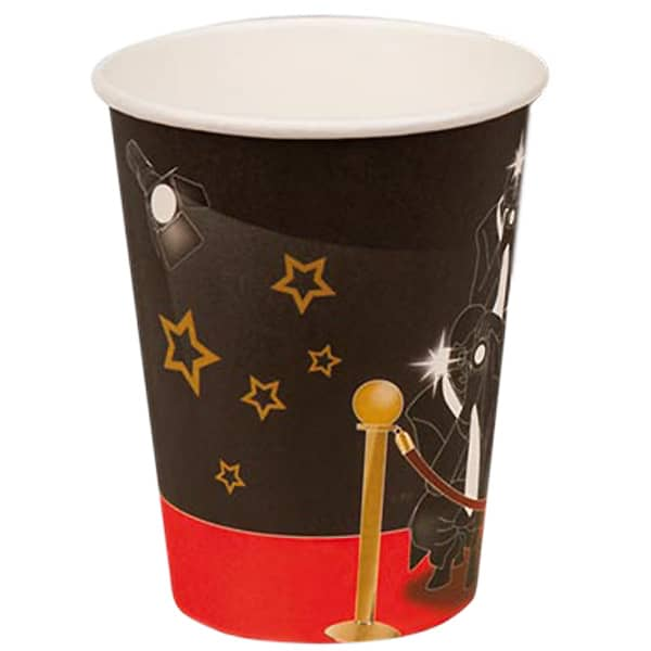 VIP Theme Paper Cups 255ml - Pack of 6