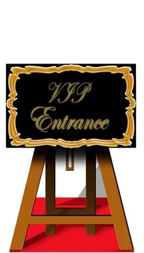 VIP Entrance Sign Cardboard Cutout - 116cm Product Image