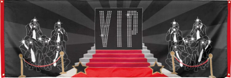 VIP Large Cloth Banner - 7.2 x 2.4 Ft / 220 x 74cm Product Image