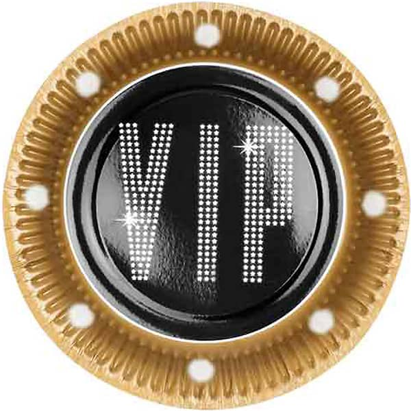 VIP Theme Paper Plates 23cm - Pack of 6