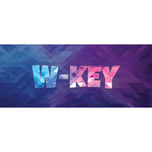 W-Key Home Screen Background PVC Party Sign Decoration 60cm x 25cm Product Image