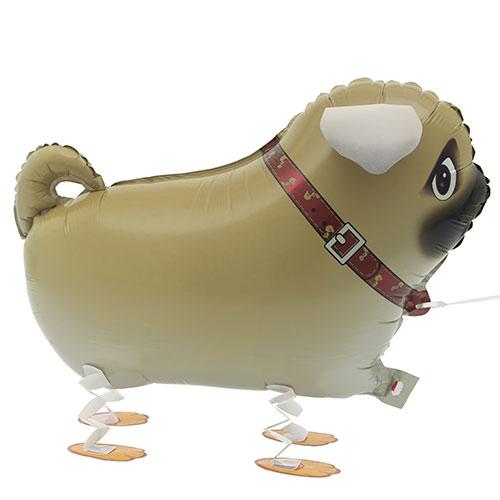 Walking Pet Pug Foil Helium Balloon 56cm / 22Inch Product Image