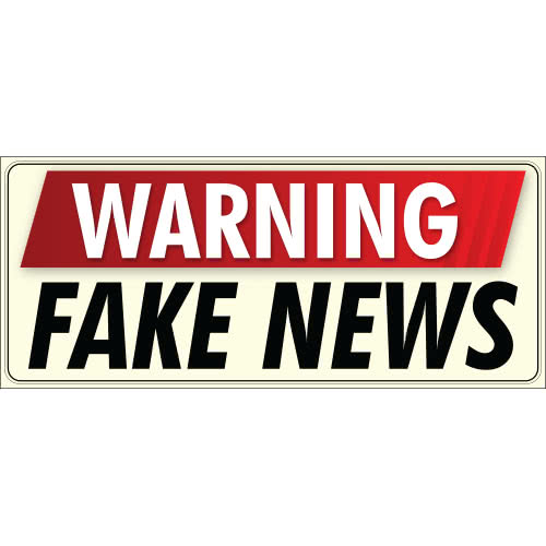 Warning Fake News PVC Party Sign Decoration 60cm x 25cm Product Image