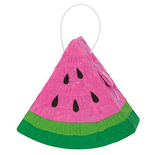 Watermelon Mini Pinata Decoration 18cm