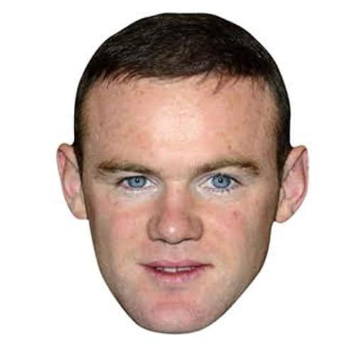 Wayne Rooney Cardboard Face Mask Product Image