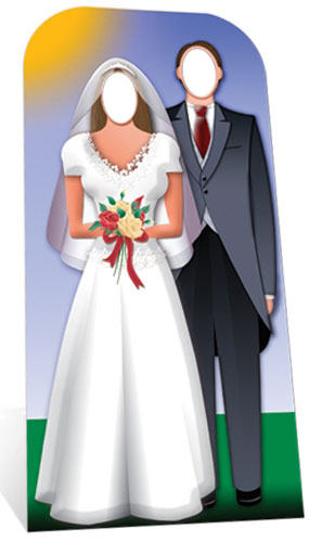 Wedding Couple Stand In Cardboard Cutout - 188cm Product Gallery Image