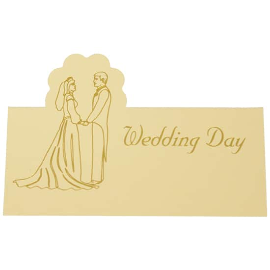 Wedding Day Cream and Gold Place Cards - Pack of 10