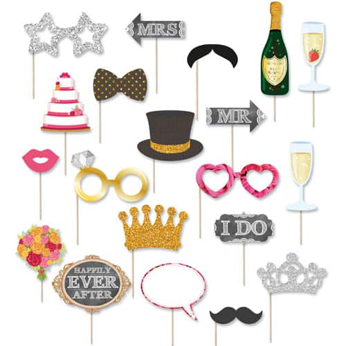 Wedding Photo Prop Accessories - Pack of 20 Product Image