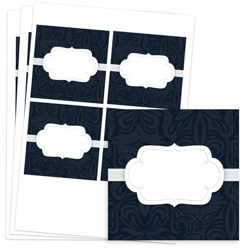 To And From Design 95mm Square Sticker sheet of 4 Product Image