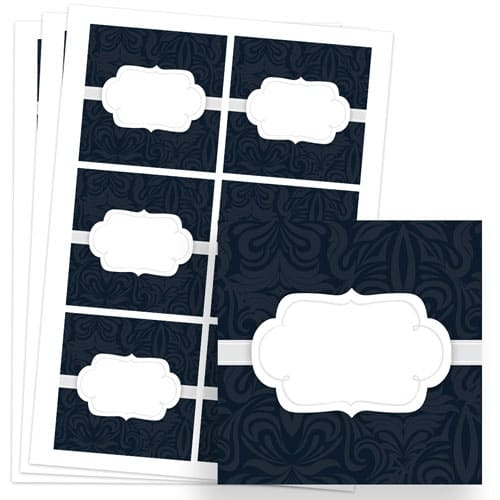To And From Design 80mm Square Sticker sheet of 6