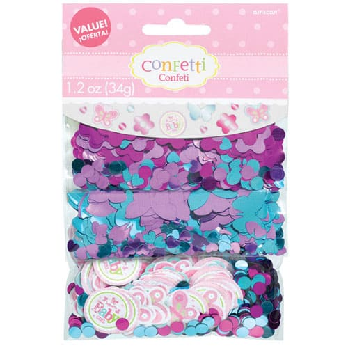 Welcome Baby Girl Confetti 34gram Pack of 3