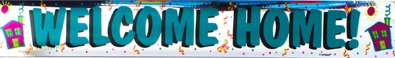 Welcome Home' Foil Banner - 12 Ft / 366cm Product Image