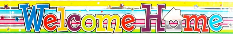 Welcome Home Foil Banner 270cm Product Image